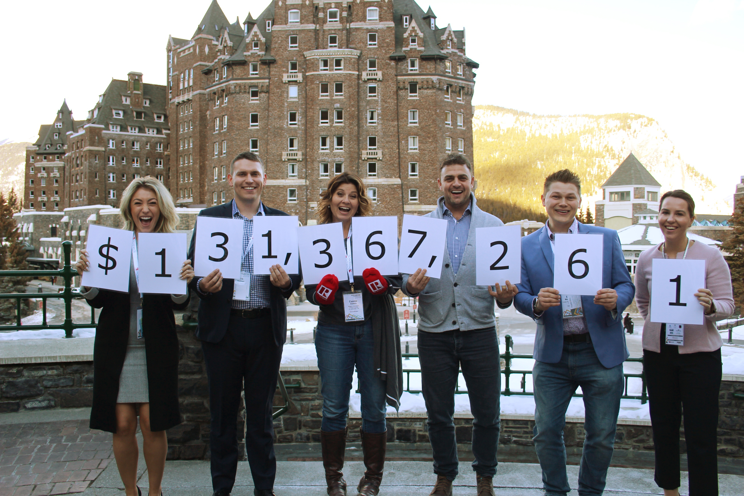 The REALTOR® community has reported a whopping $131,367,261.96 in funds raised and donated